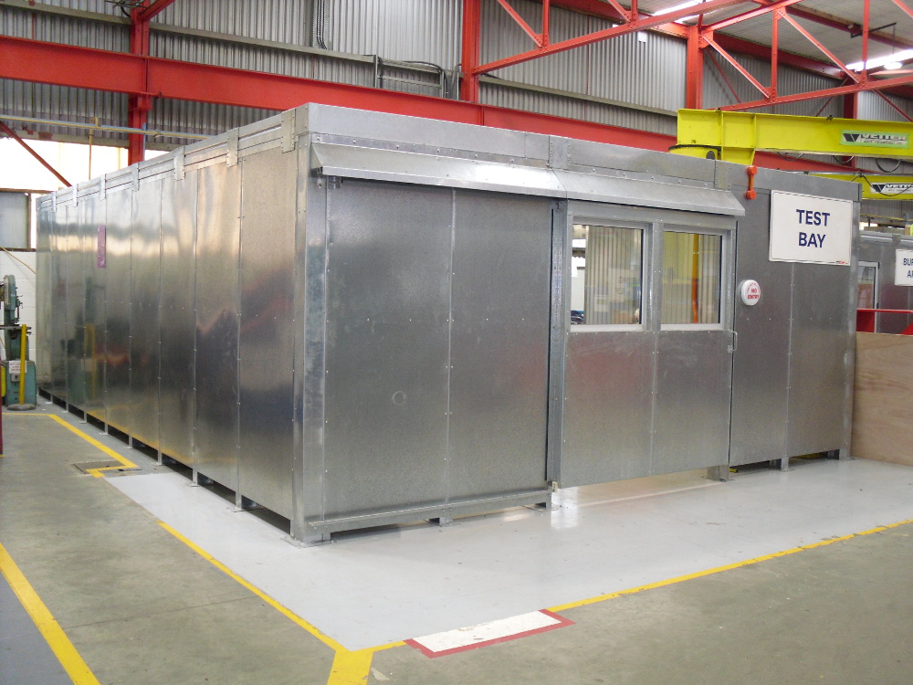 Sound Isolation Booth in the factory