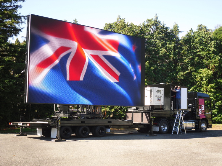Big LED Screen with New Zealand flag